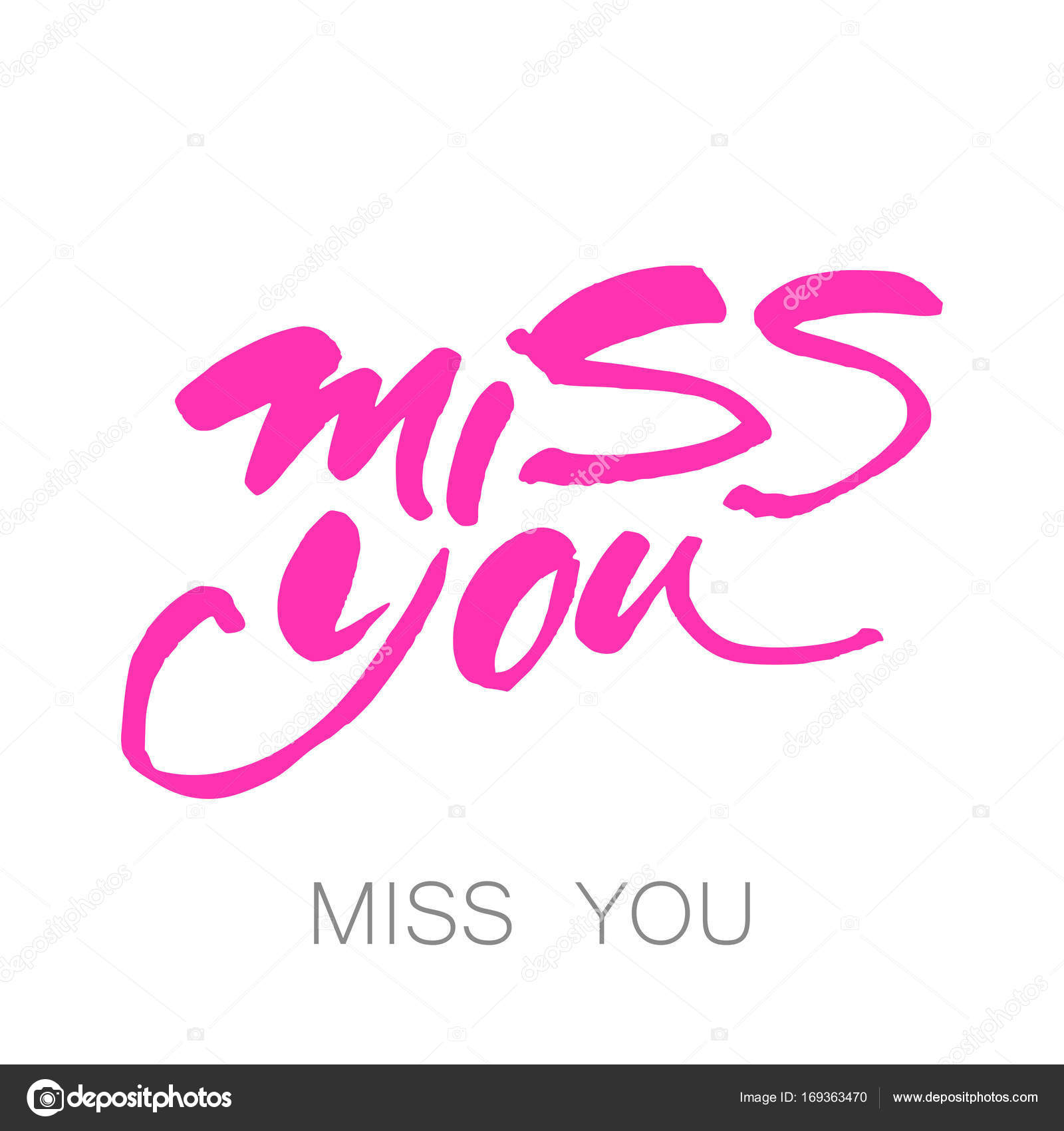 Miss You Template Stock Vector Antoshkaforever 169363470