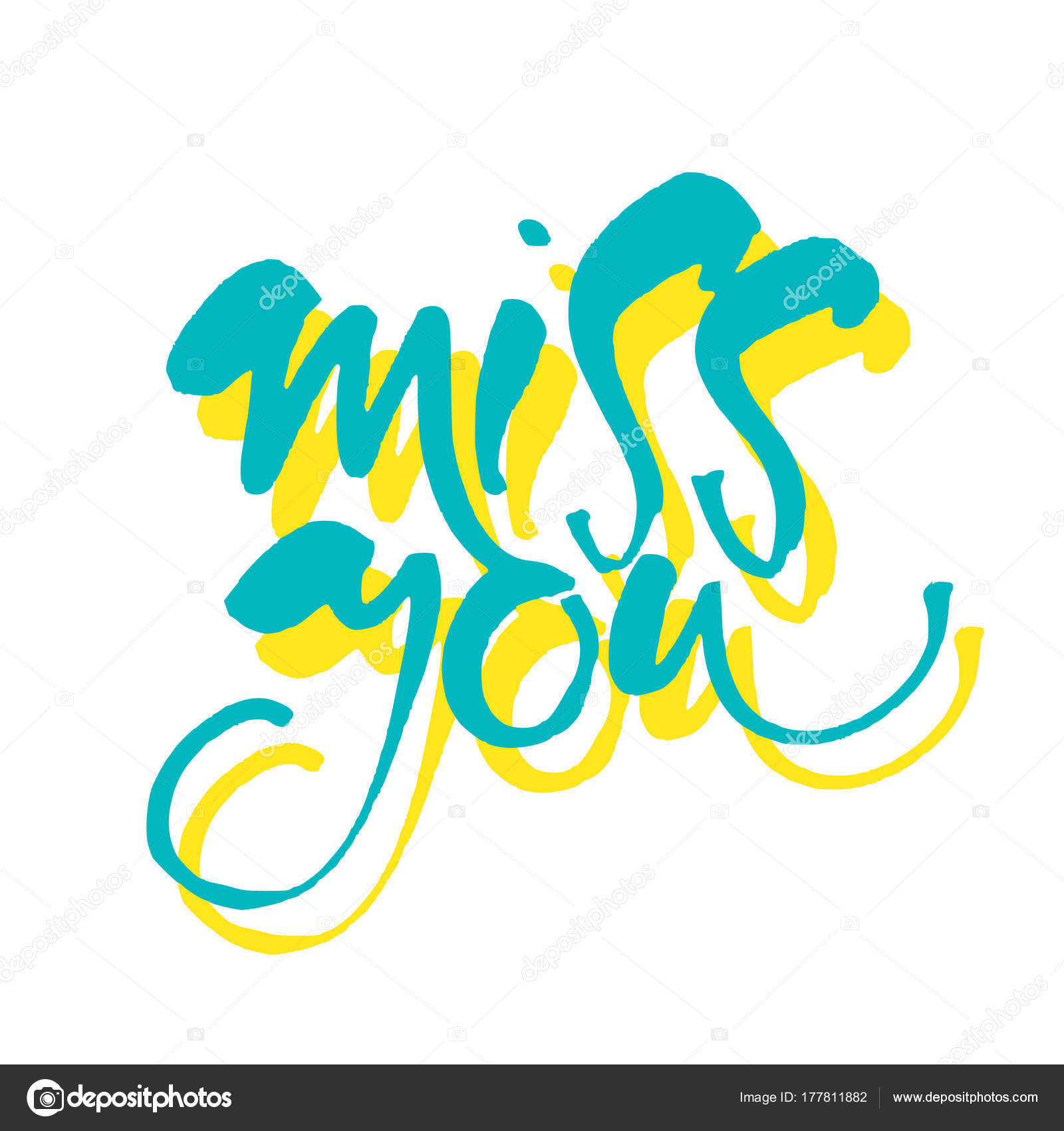 Miss you template stock vector antoshkaforever 177811882 miss you inscription greeting card with calligraphy typography for banner poster or apparel design vector illustration vector by antoshkaforever kristyandbryce Image collections