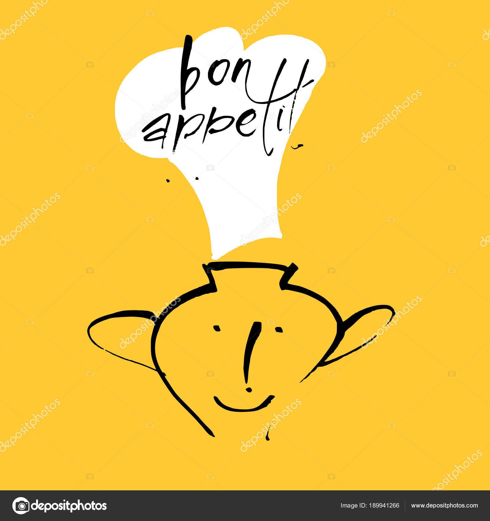 Bon Appetit Schriftzug Vorlage — Stockvektor © antoshkaforever ...
