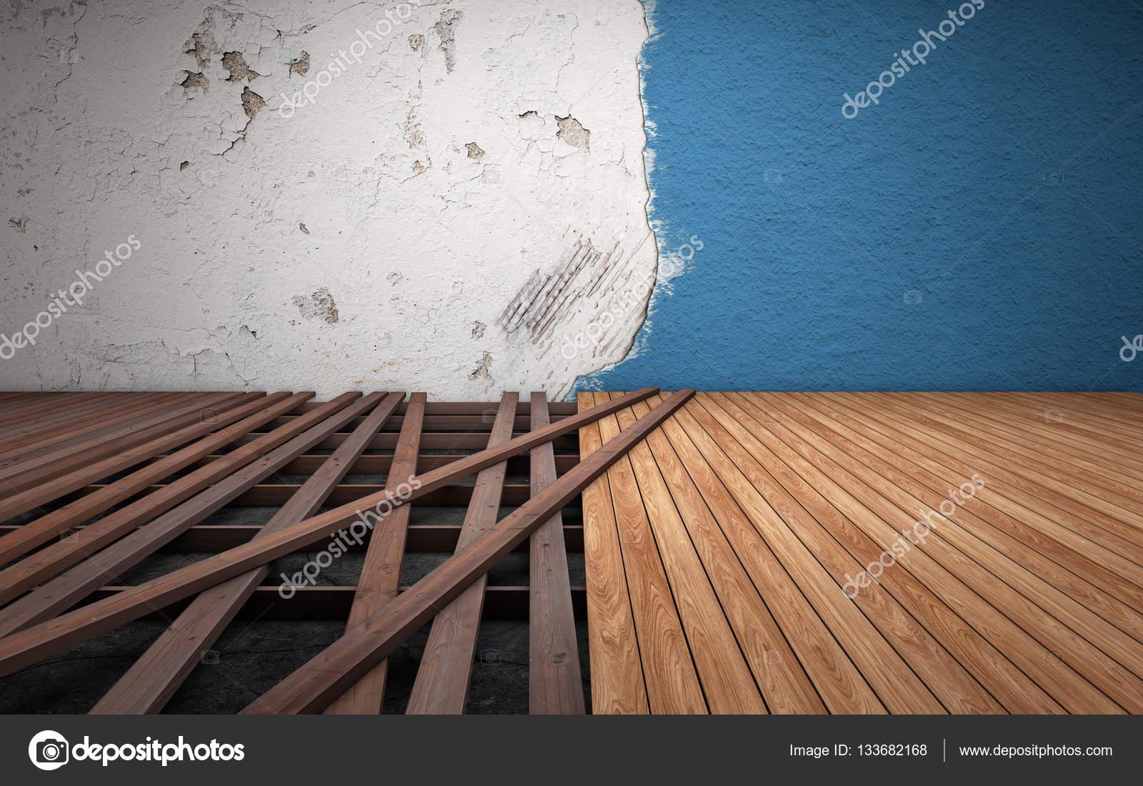 Reparaci 243 N De Habitaci 243 N Vieja Rota Piso Tablones De