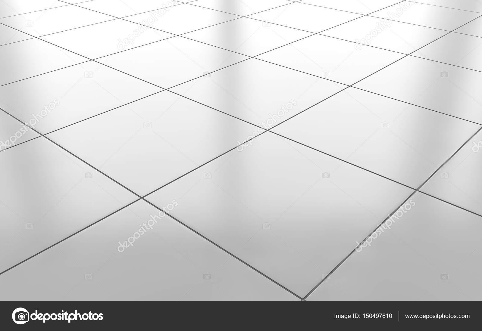 Azulejo De Cer 225 Mica Brillante Blanco Piso Fondo Render 3d