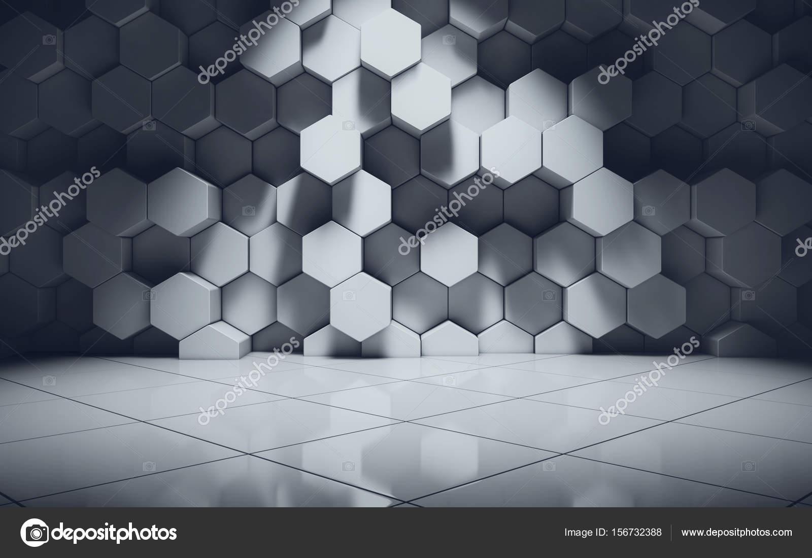 Verzauberkunst Muster Wand Beste Wahl Abstrakte Geometrische Im Zimmer — Stockfoto