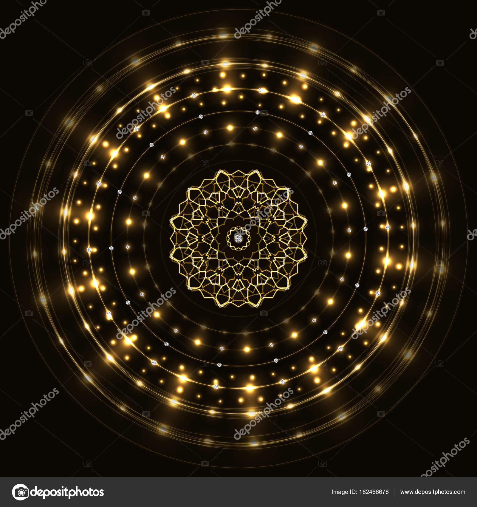 Abstrakte Runde Goldrahmen mit mandala — Stockvektor © Jminka #182466678