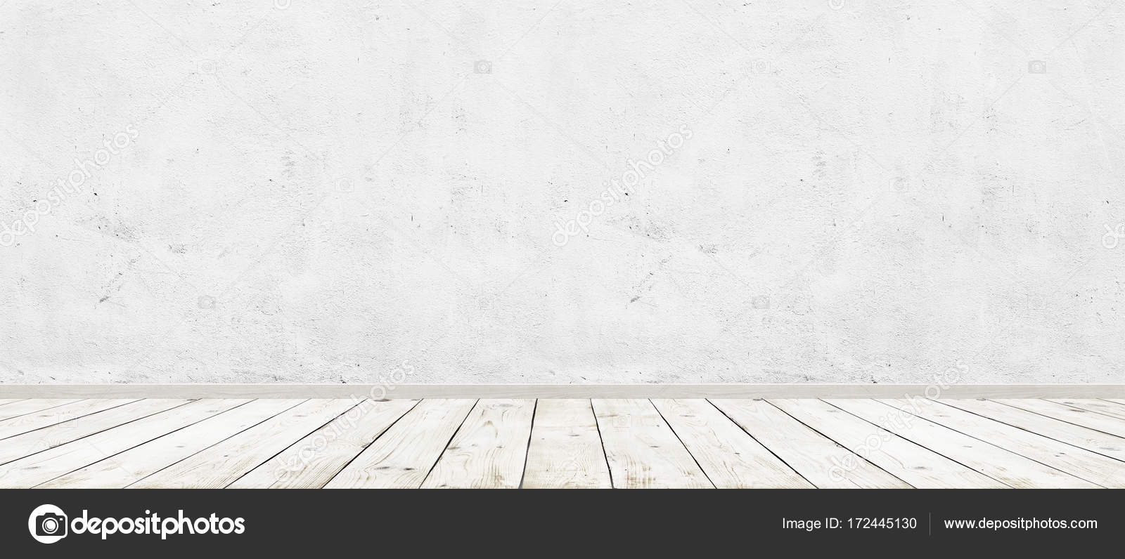 white wood floor background.  White Vintage Room Interior With White Concrete Wall And Wood Floor Background  Wide Panorama Image U2014 And White Wood Floor Background