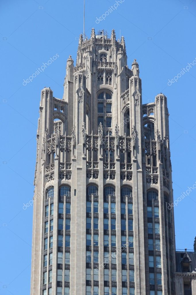 シカゴ ・ トリビューン タワー ...