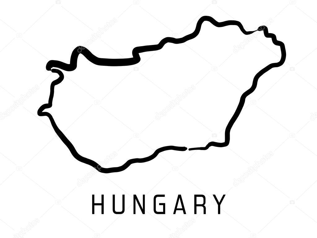 magyarország térkép körvonal Magyarország térképének körvonala — Stock Vektor © tupungato  magyarország térkép körvonal