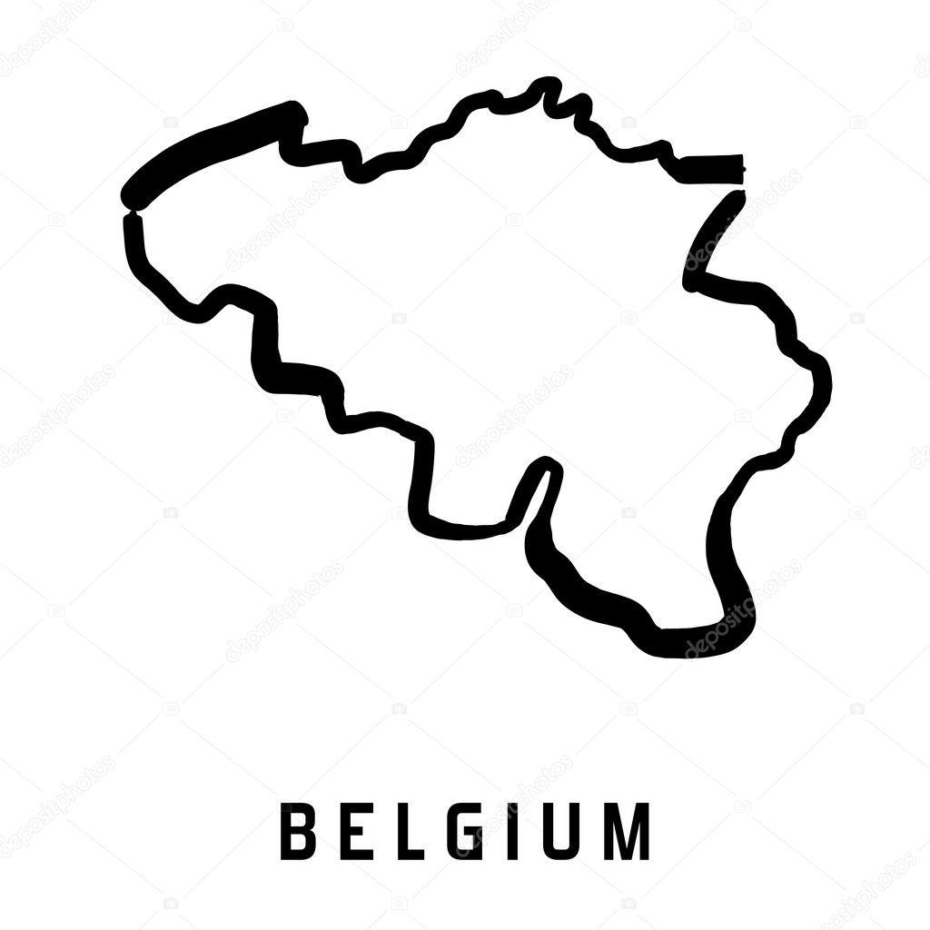 Belgien Karte Umriss.Belgien Vektorkarte Stockvektor Tupungato 128110044
