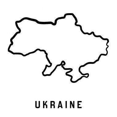Ukraine map outline