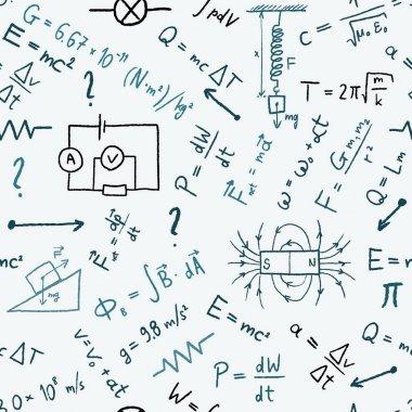 Physics background - vector illustration