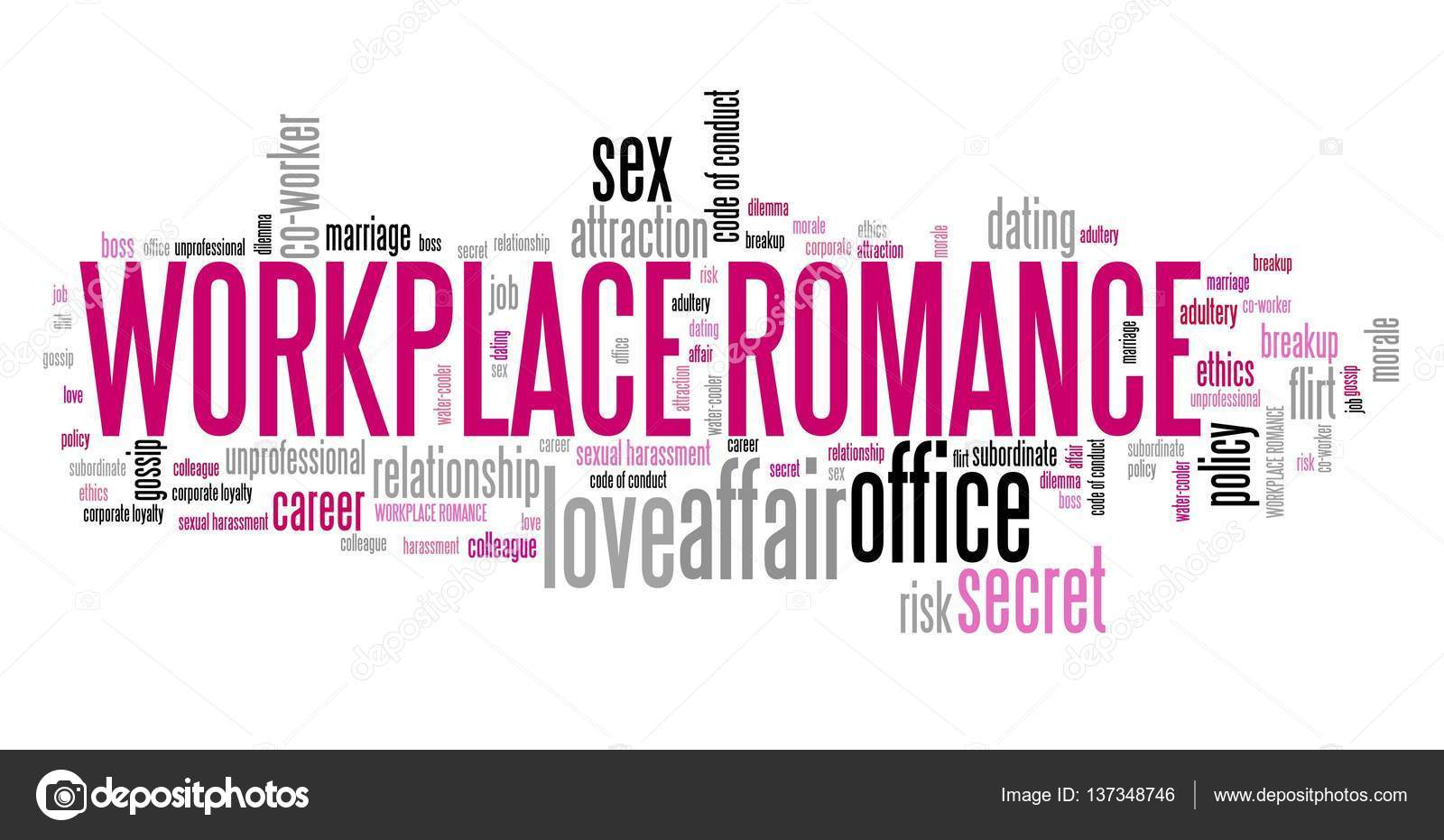workplace romance word cloud stock photo tupungato 137348746