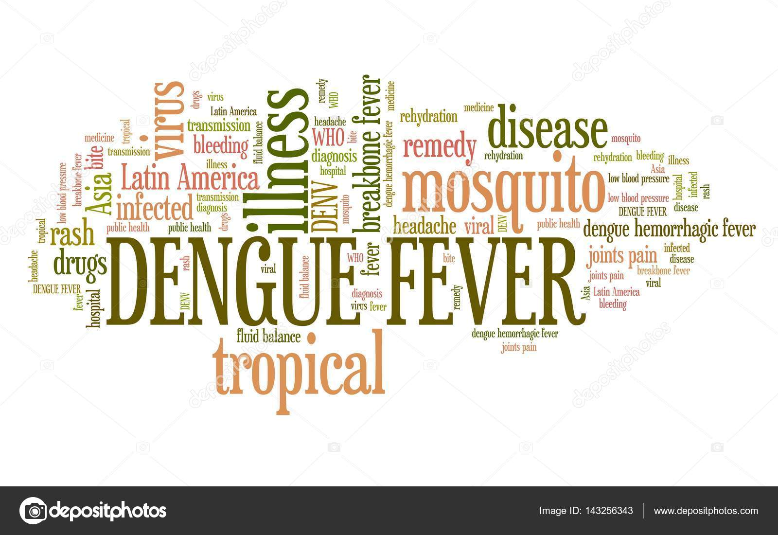 Dengue Fever Infects La Fte De >> Dengue Fever Word Cloud Stock Photo C Tupungato 143256343
