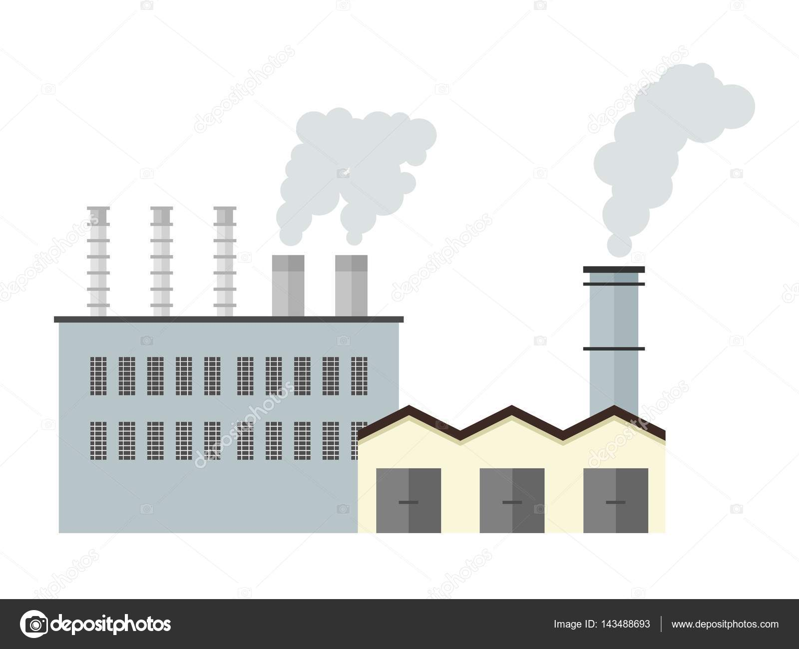 Factory building - vector illustration — Stock Vector ...