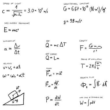 Physics lesson - vector illustration