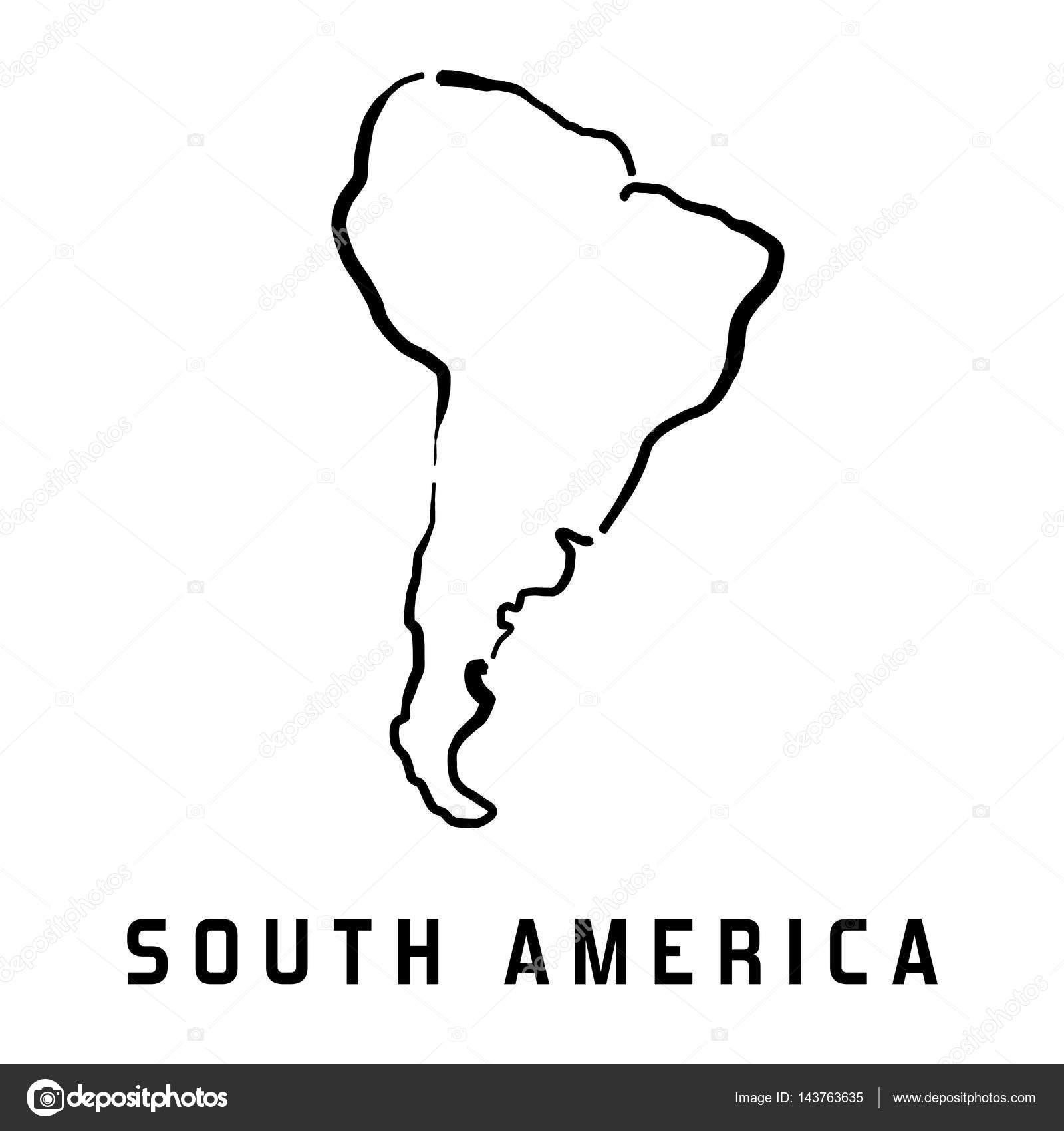 South America Map  Stock Vector  Tupungato - South america map outline