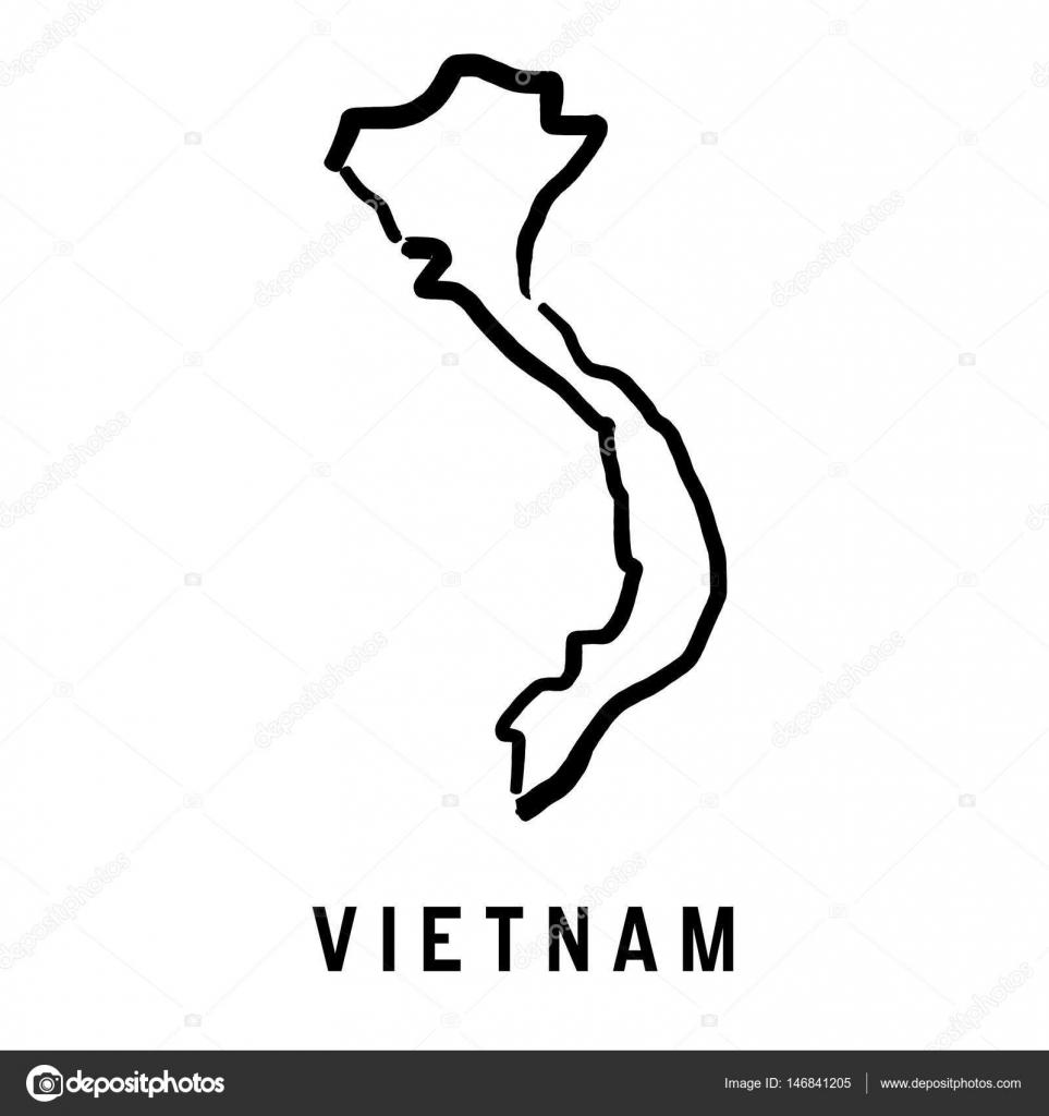 Picture of: Vietnam Map Outline Stock Vector C Tupungato 146841205
