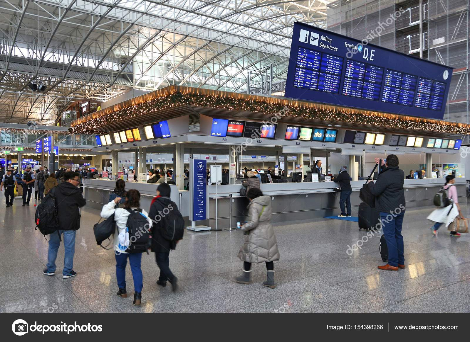 Frankfurt Airport Interior Stock Editorial Photo C Tupungato