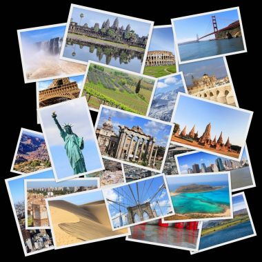 Landmarks collage from all the world