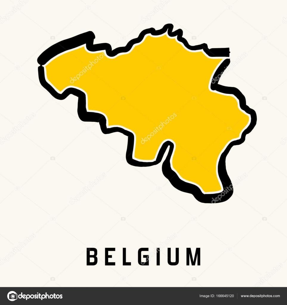 Belgien Karte Umriss.Belgien Karte Vektor Stockvektor Tupungato 166645120