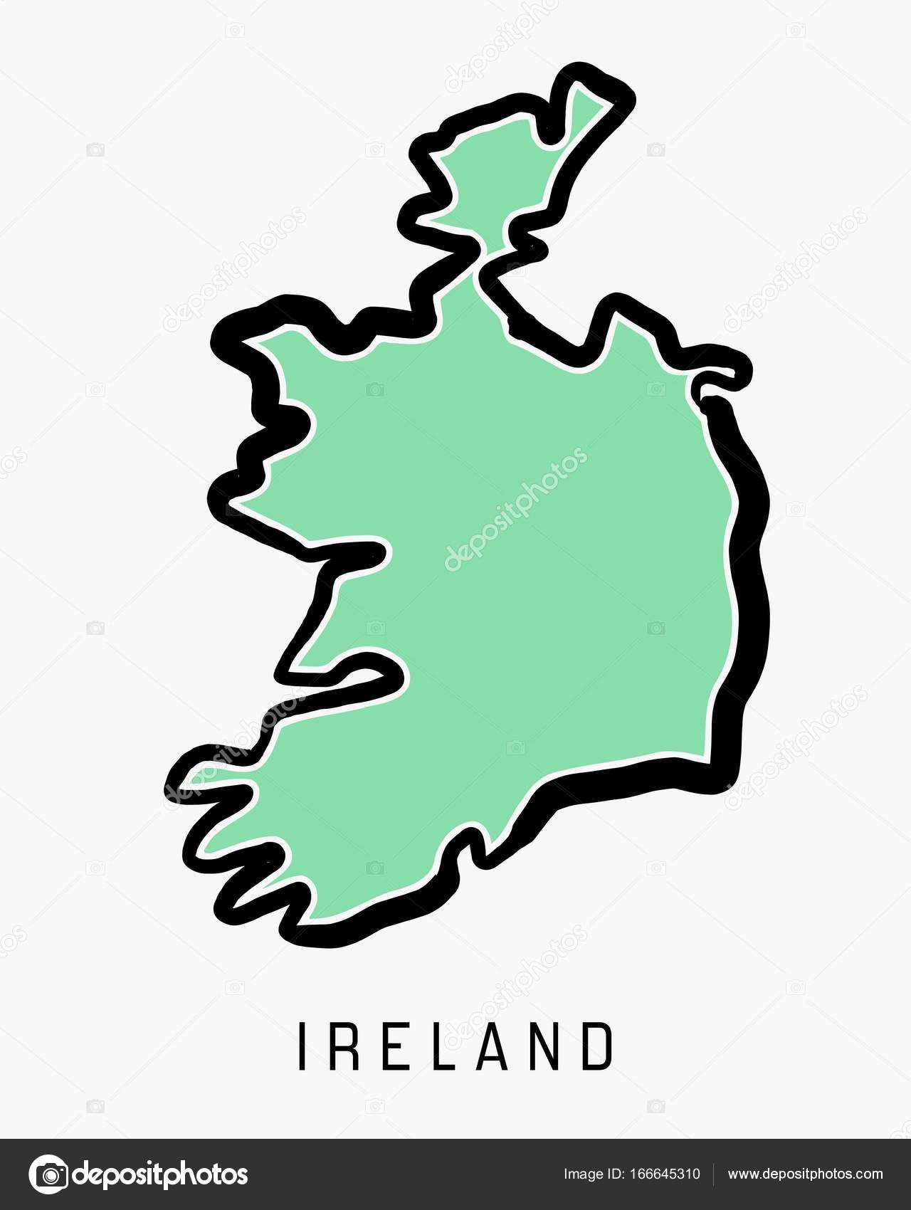 Carte Irlande Simple.Carte Simple Irlande Image Vectorielle Tupungato C 166645310