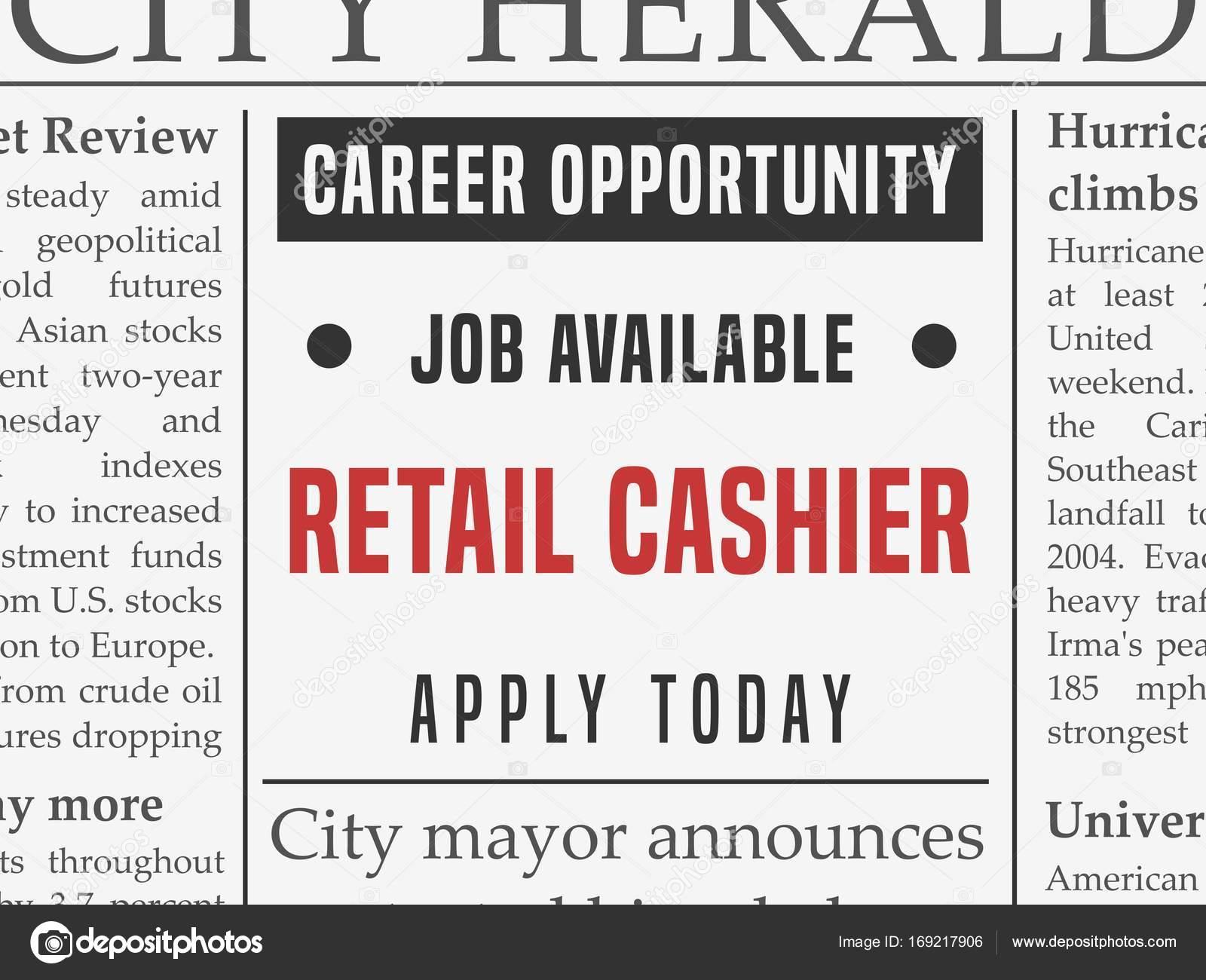 retail cashier job stock vector