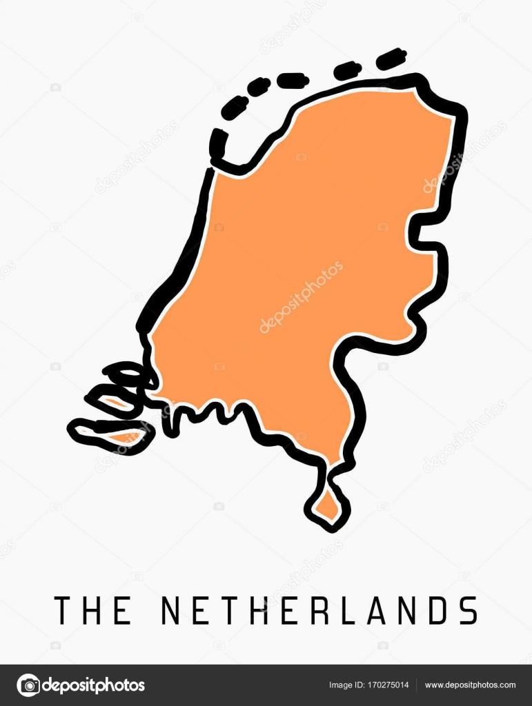 Niederlande Karte Umriss.Die Niederlande Karte Umriss Stockvektor Tupungato 170275014