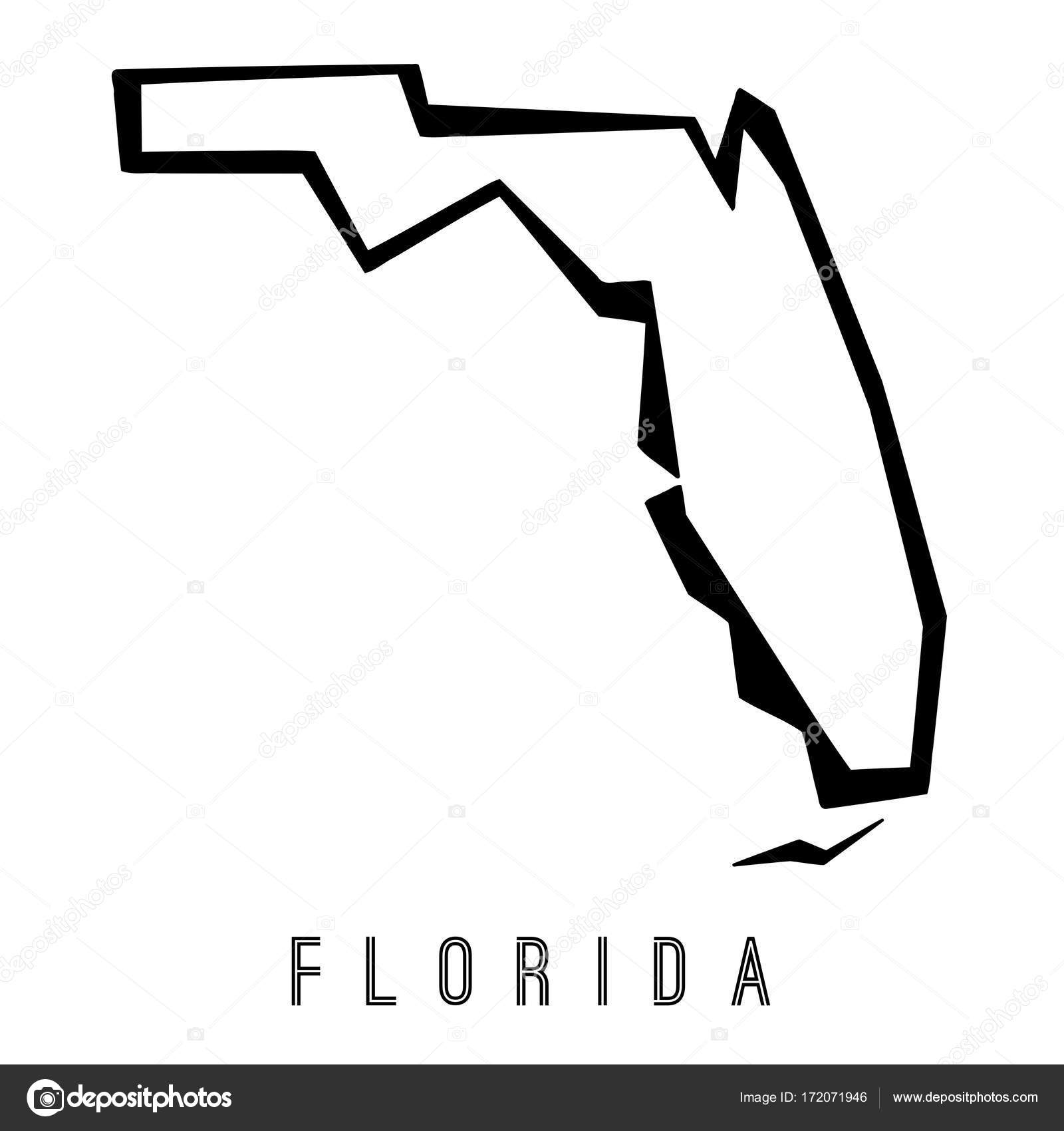 Florida Geometric Map Stock Vector C Tupungato 172071946