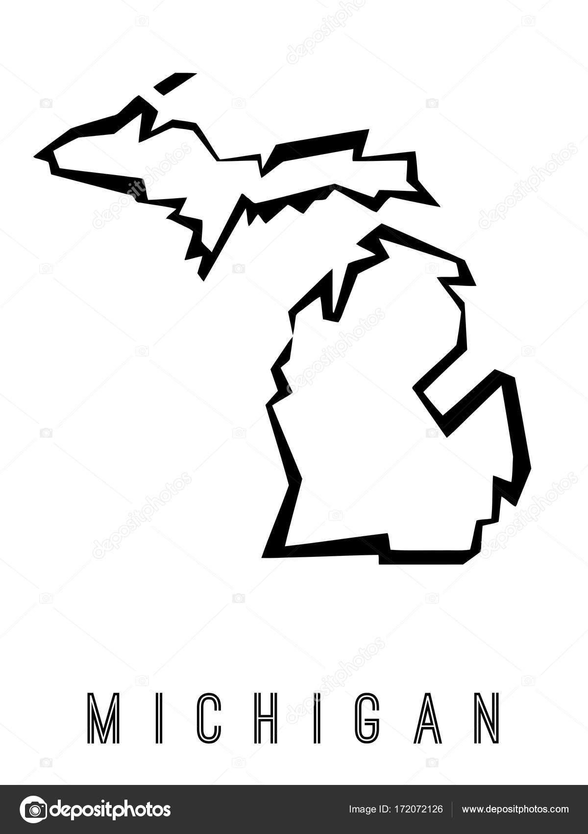 Michigan Geometric Map Stock Vector C Tupungato 172072126