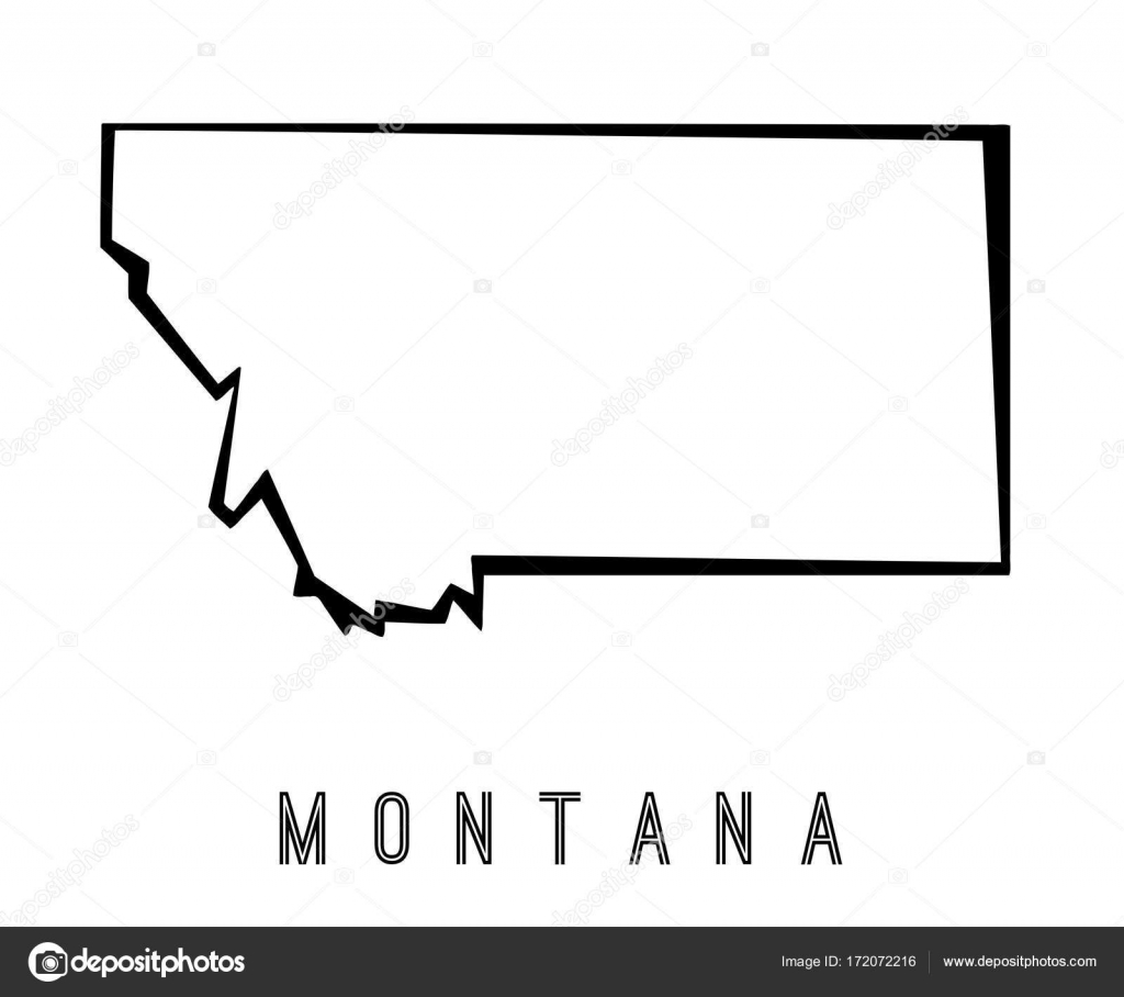montana map outline us state shape sharp polygonal geometric style vector vector by tupungato