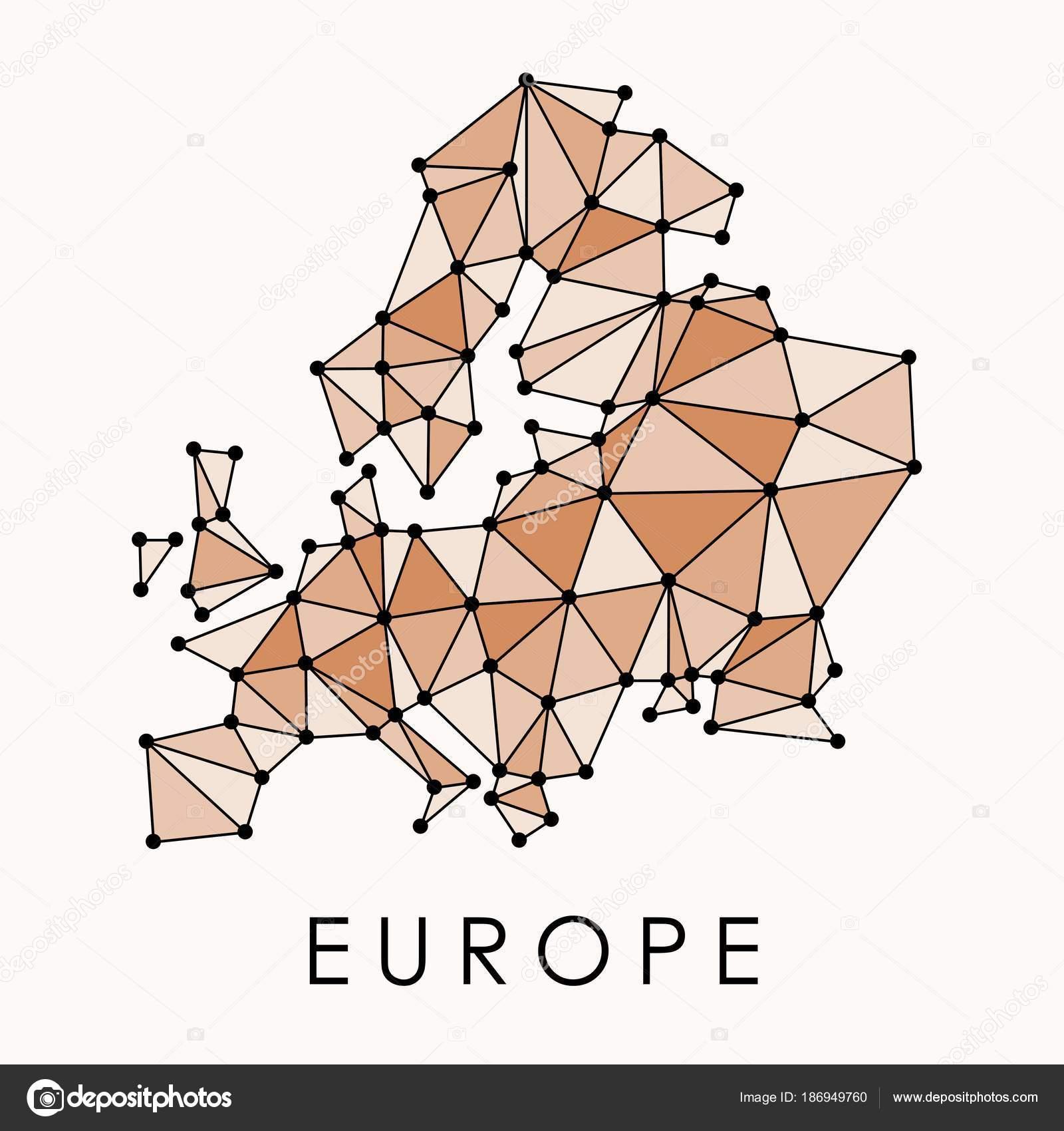 Europe modern map — Stock Vector © tupungato #186949760