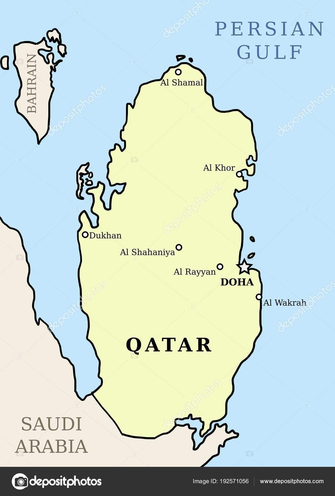 Qatar Stock Vector C Tupungato 192571056