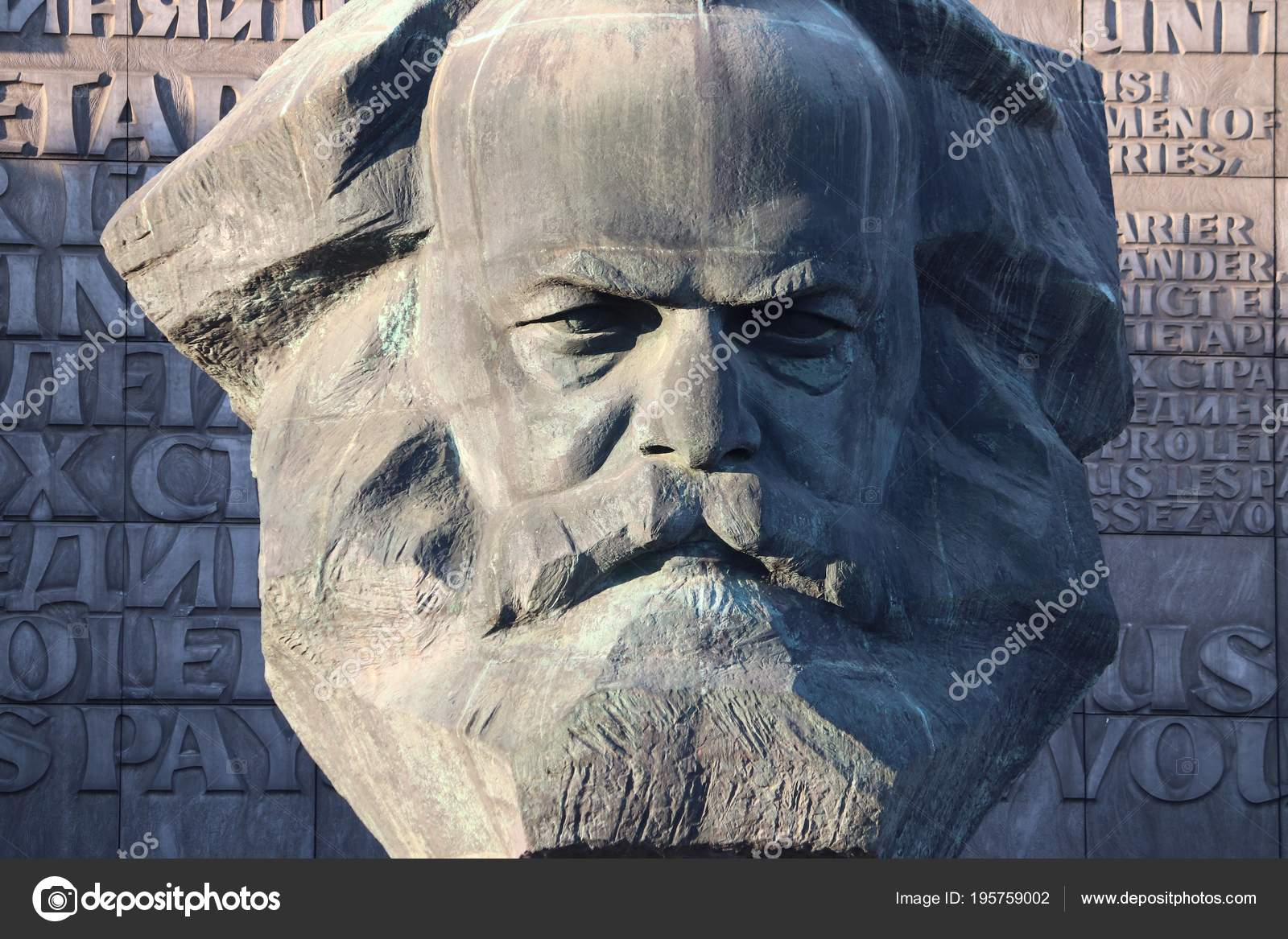 Chemnitz Deutschland Mai 2018 Karl Marx Monument Chemnitz