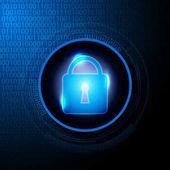 Abstraktní digitální data security pozadí vektorové ilustrace