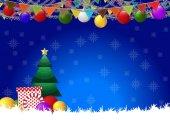 Vánoční vektorové pozadí vektorové ilustrace