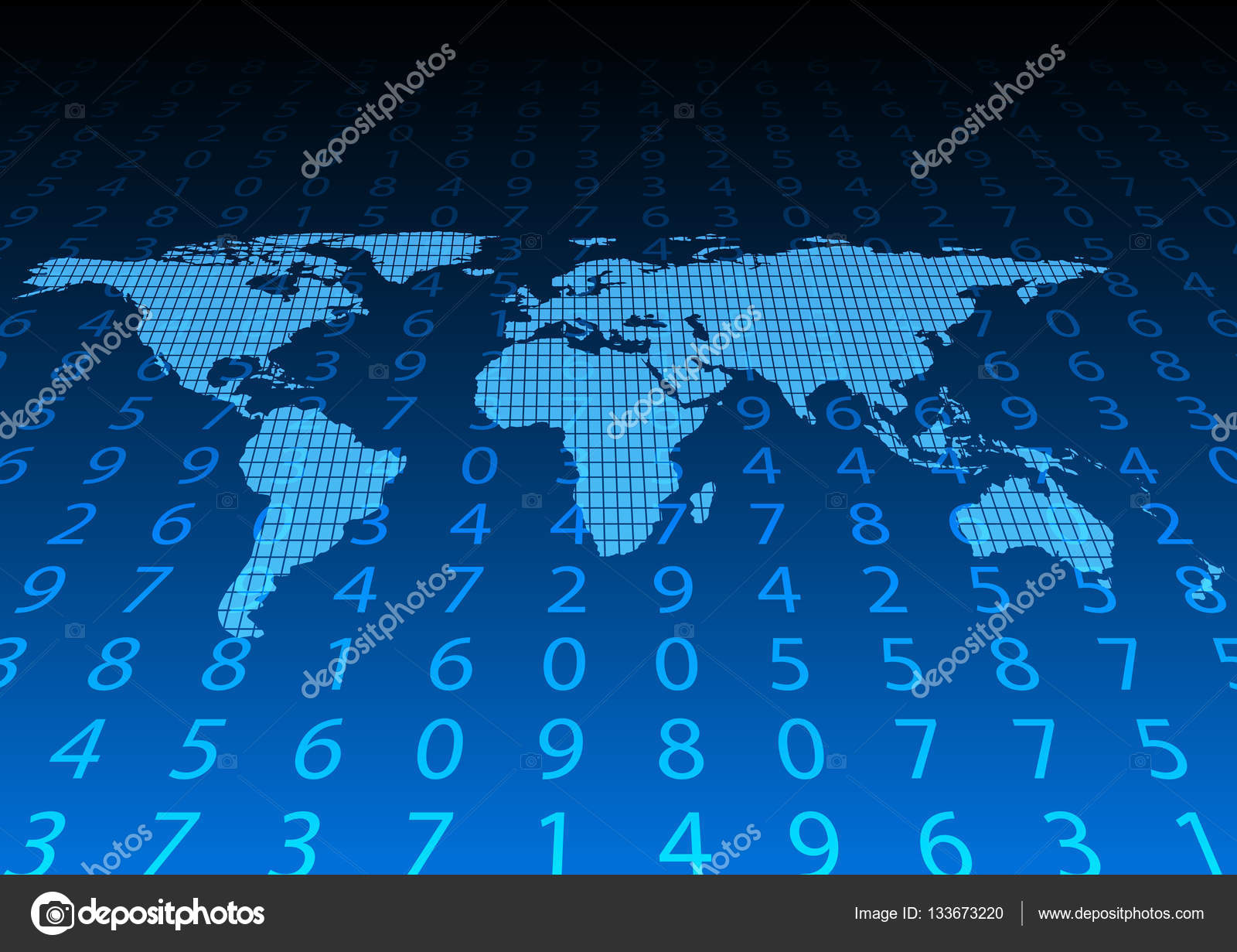 Abstract digital data and world map vector illustration some abstract digital data and world map vector illustration some elements of this image furnished by nasa gumiabroncs Image collections