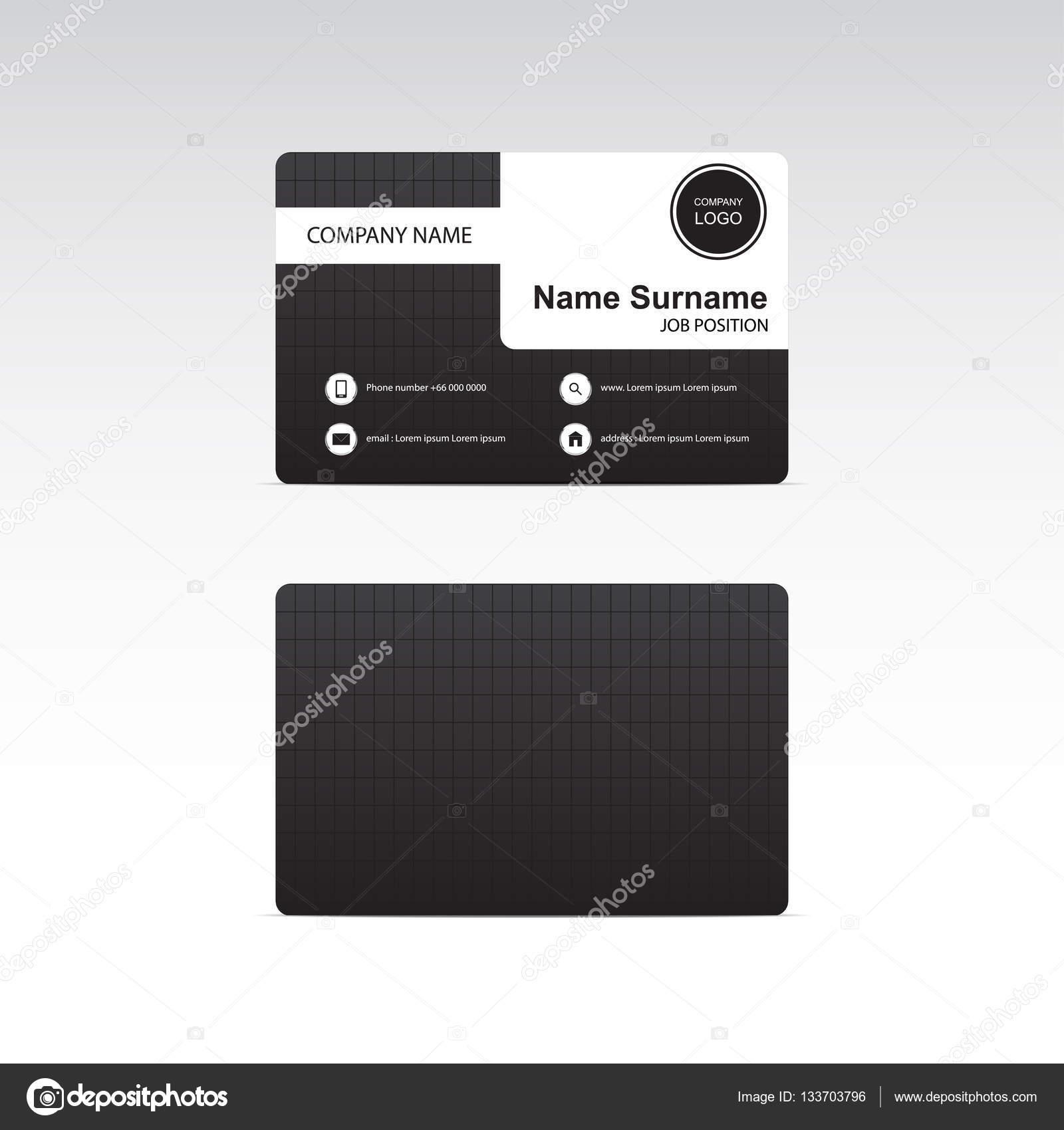 Business card black theme vector design stock vector pitsanu business card black theme vector design stock vector reheart Choice Image