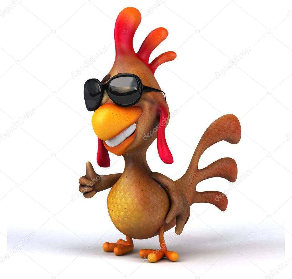 Lustige Hühner Cartoons