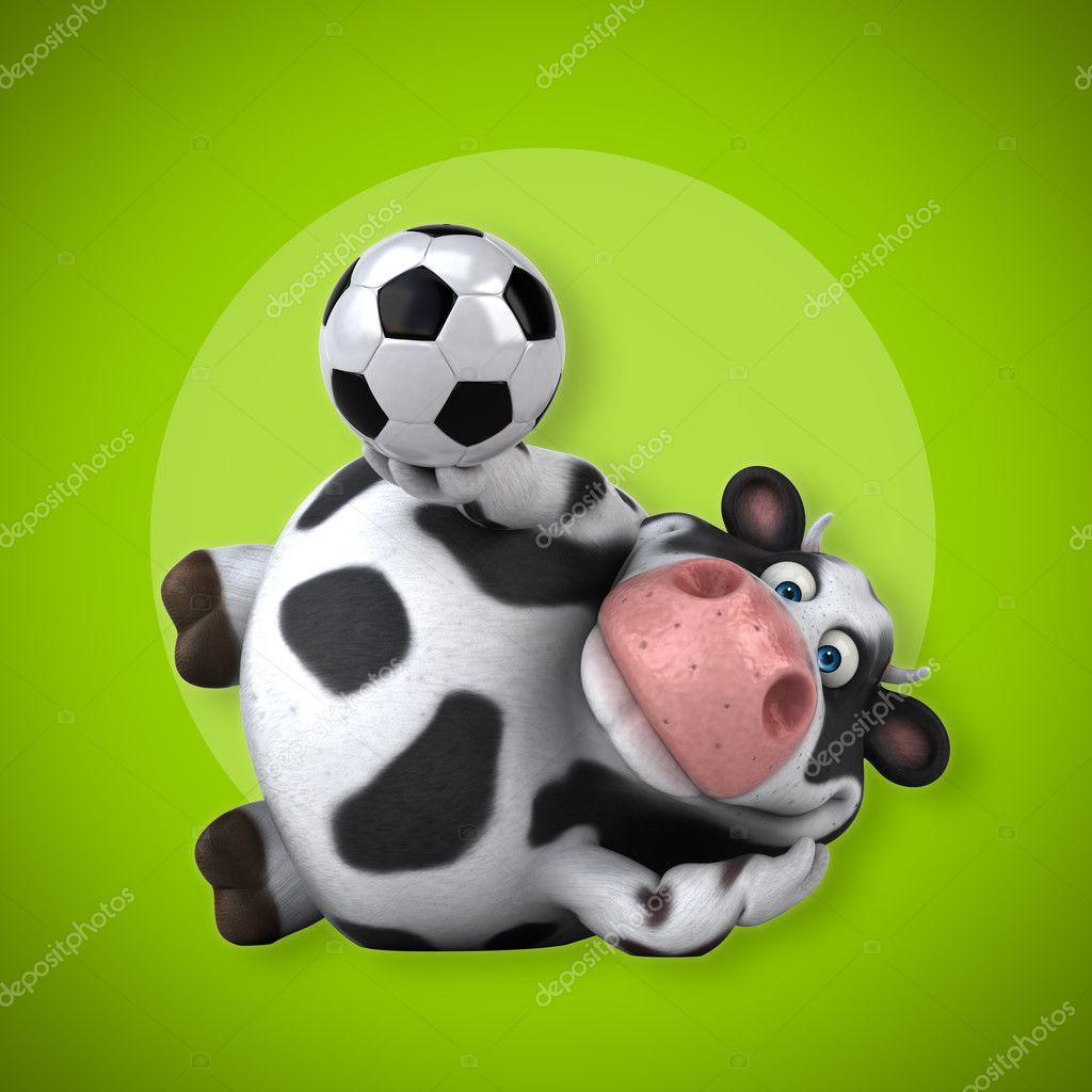 Kuh Mit Fussball Ball Stockfoto C Julos 127253858