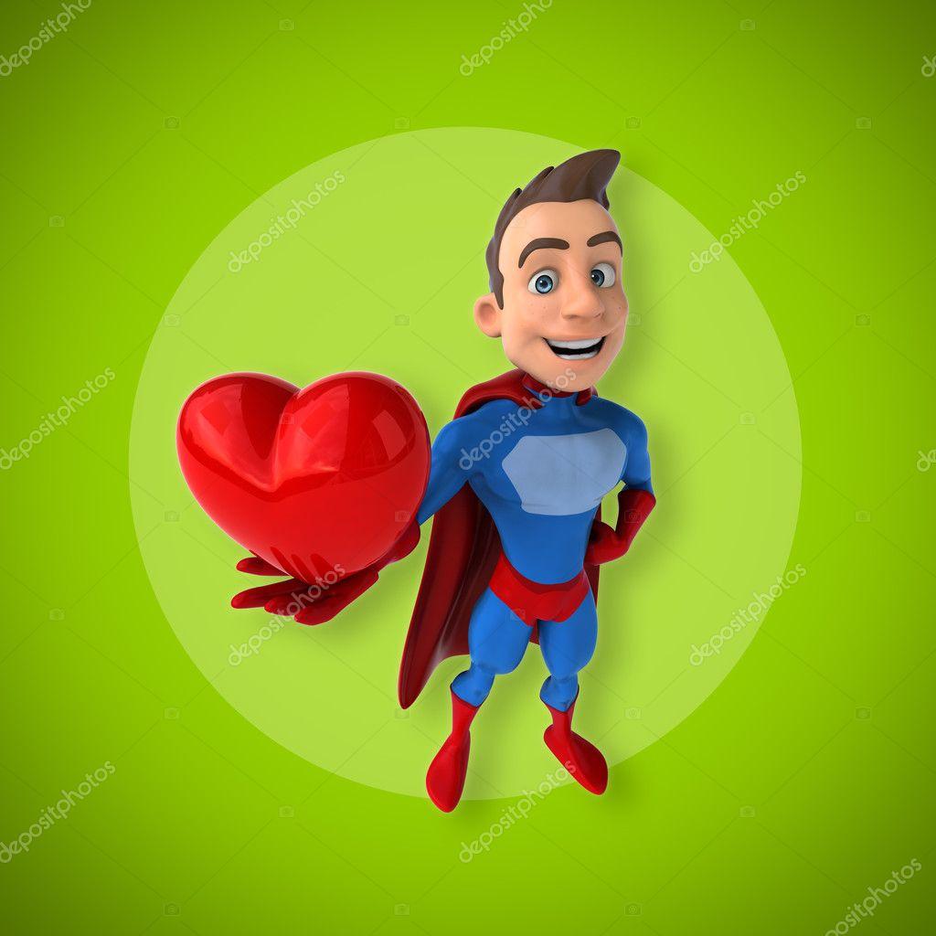 Coeur de tenue de super h ros dr le photographie julos 128449040 - Photo super drole ...