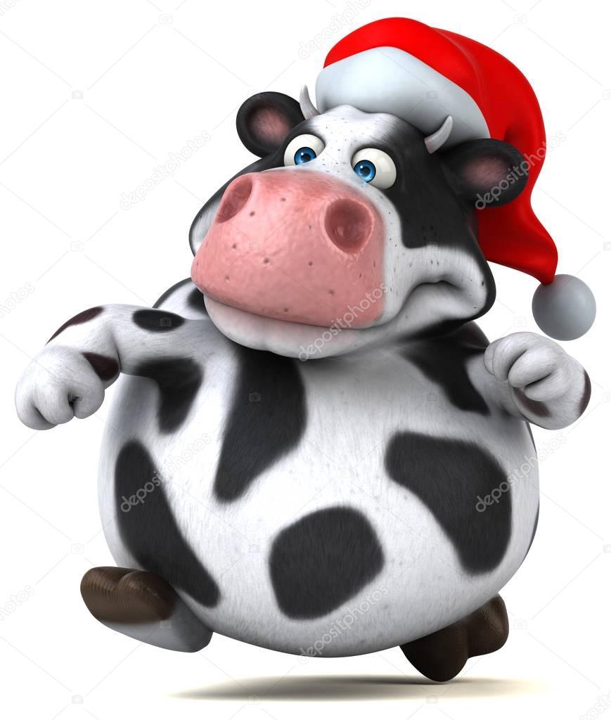Vache dr le en bonnet de noel photographie julos - Image de vache drole ...