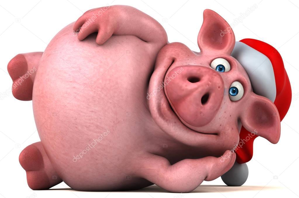 Открытка со свиньей 3д, днем учителя