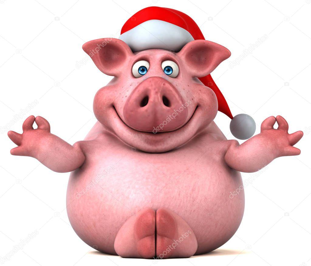 Доброй открытка, открытка со свиньей 3д
