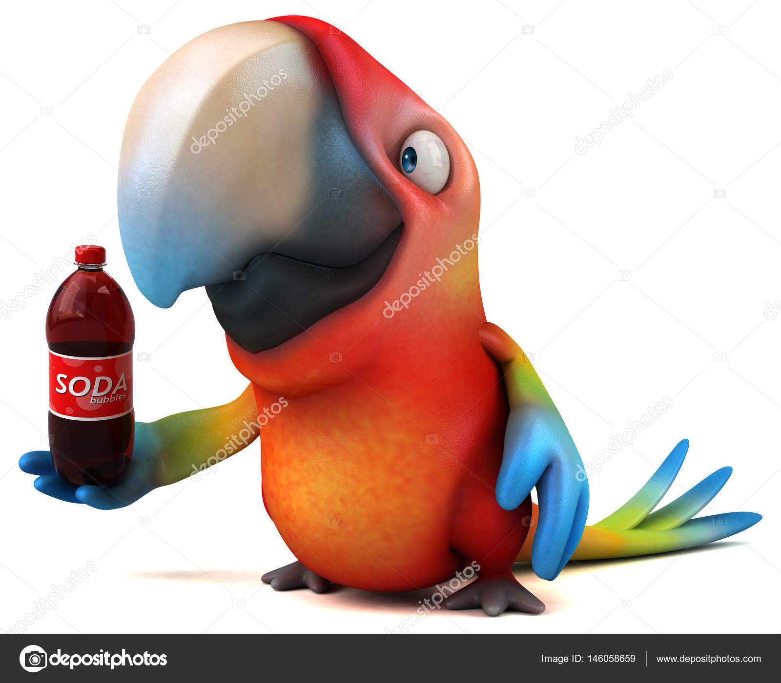 a17d85c53d2c cartoon character holding soda — Stock Photo © julos  146058659