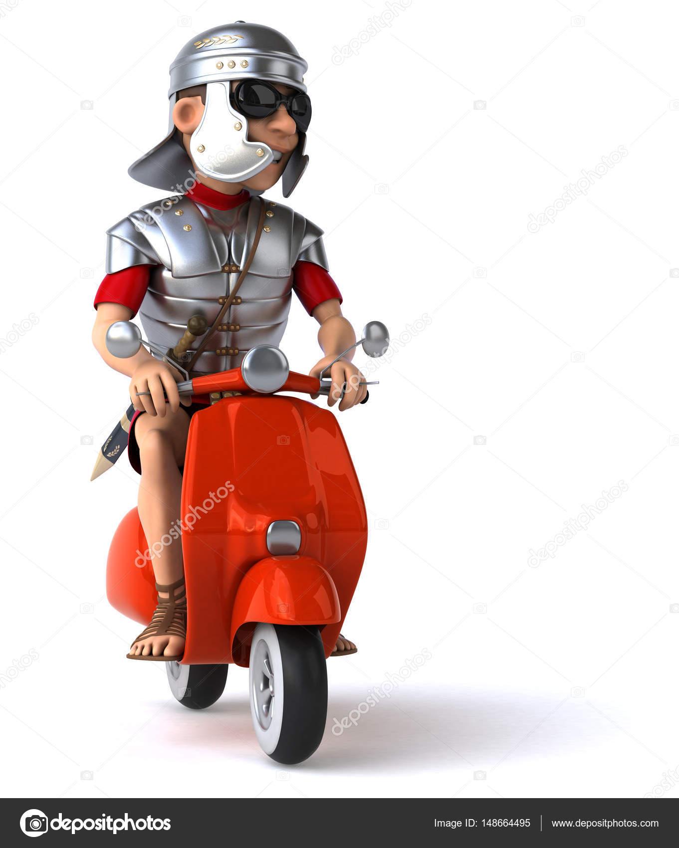 roman soldier on bike stock photo julos 148664495