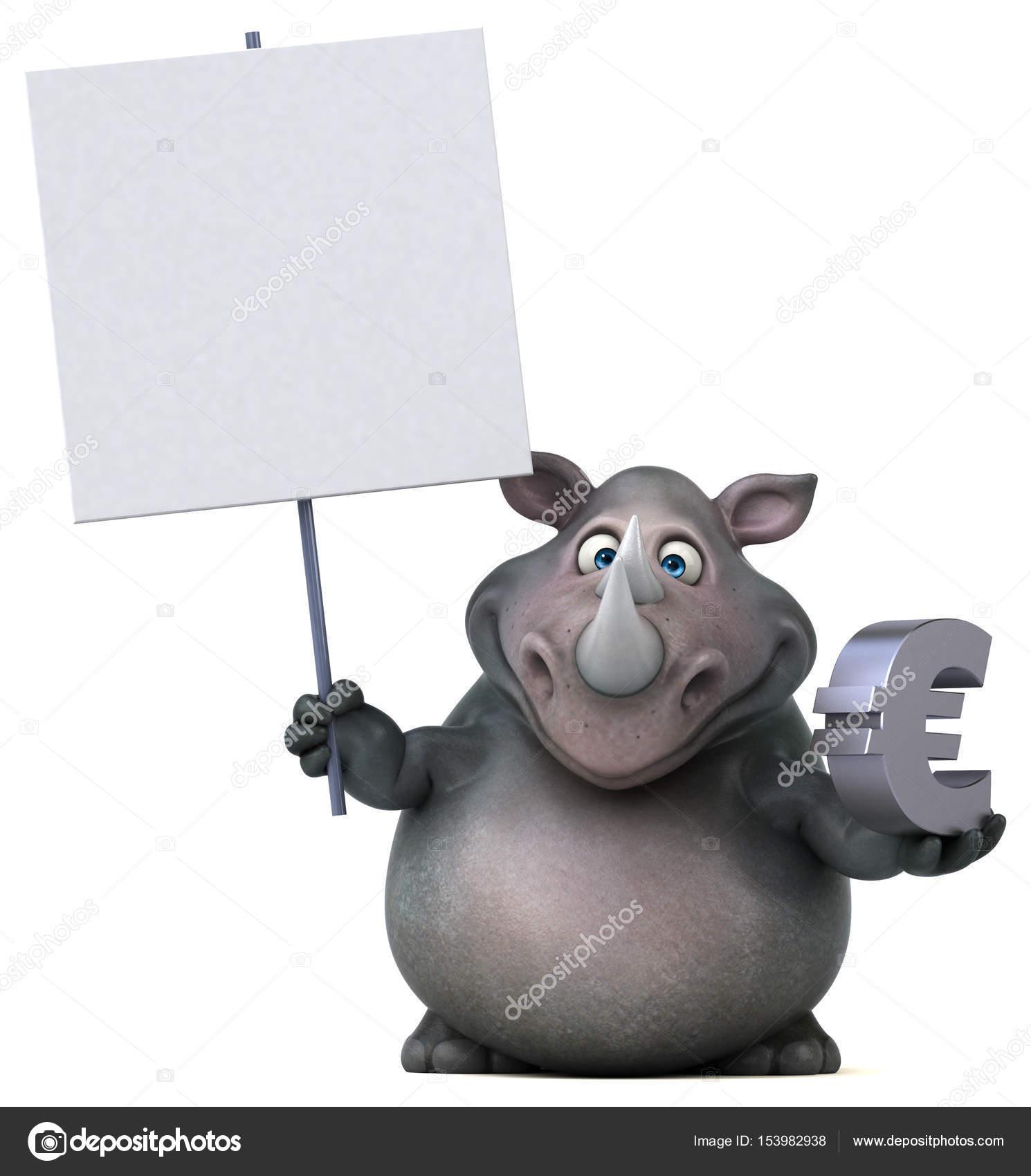 Cartoon Character Holding Euro Sign Stock Photo C Julos 153982938