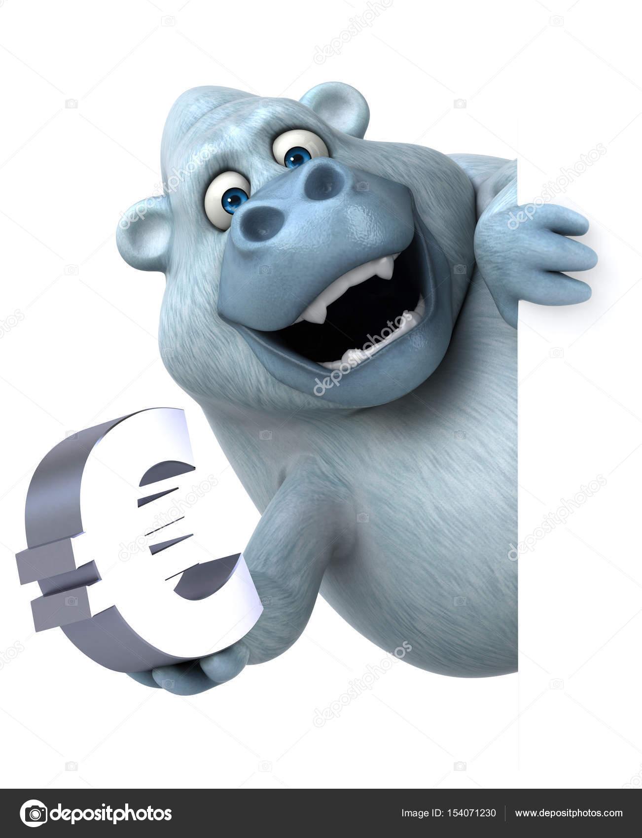Cartoon Character Holding Euro Sign Stock Photo C Julos 154071230