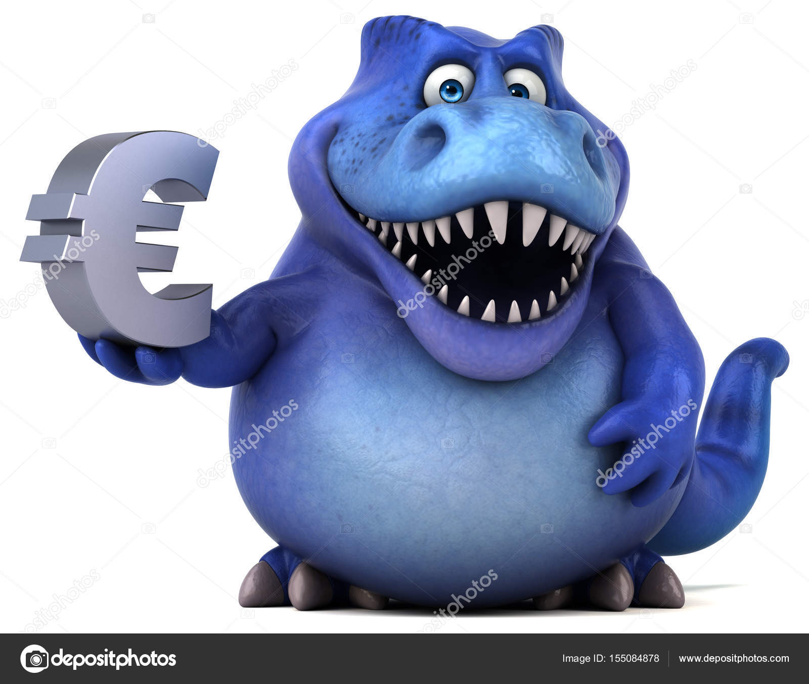 Cartoon Character Holding Euro Sign Stock Photo C Julos 155084878