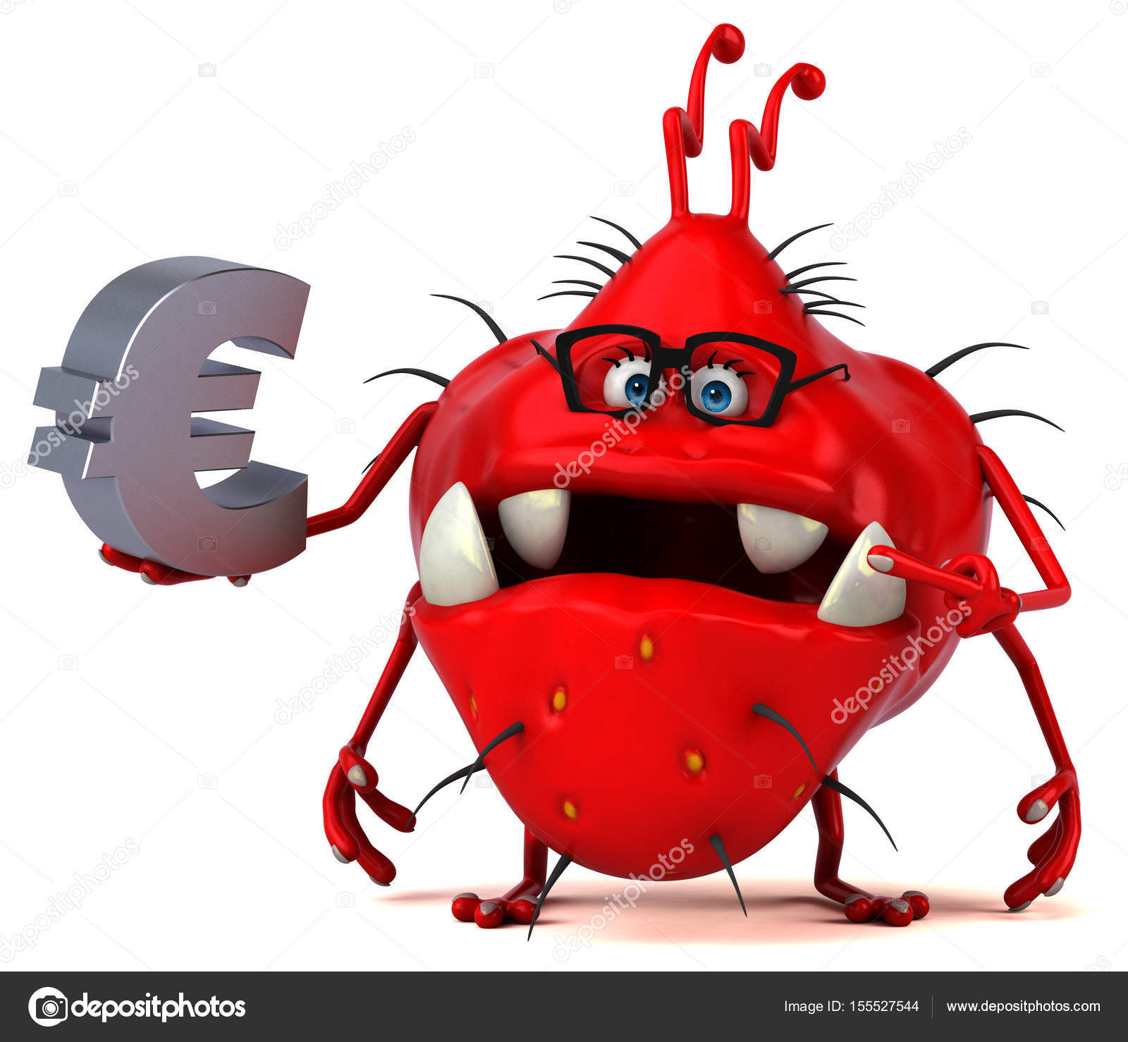 Cartoon Character Holding Euro Sign Stock Photo C Julos 155527544