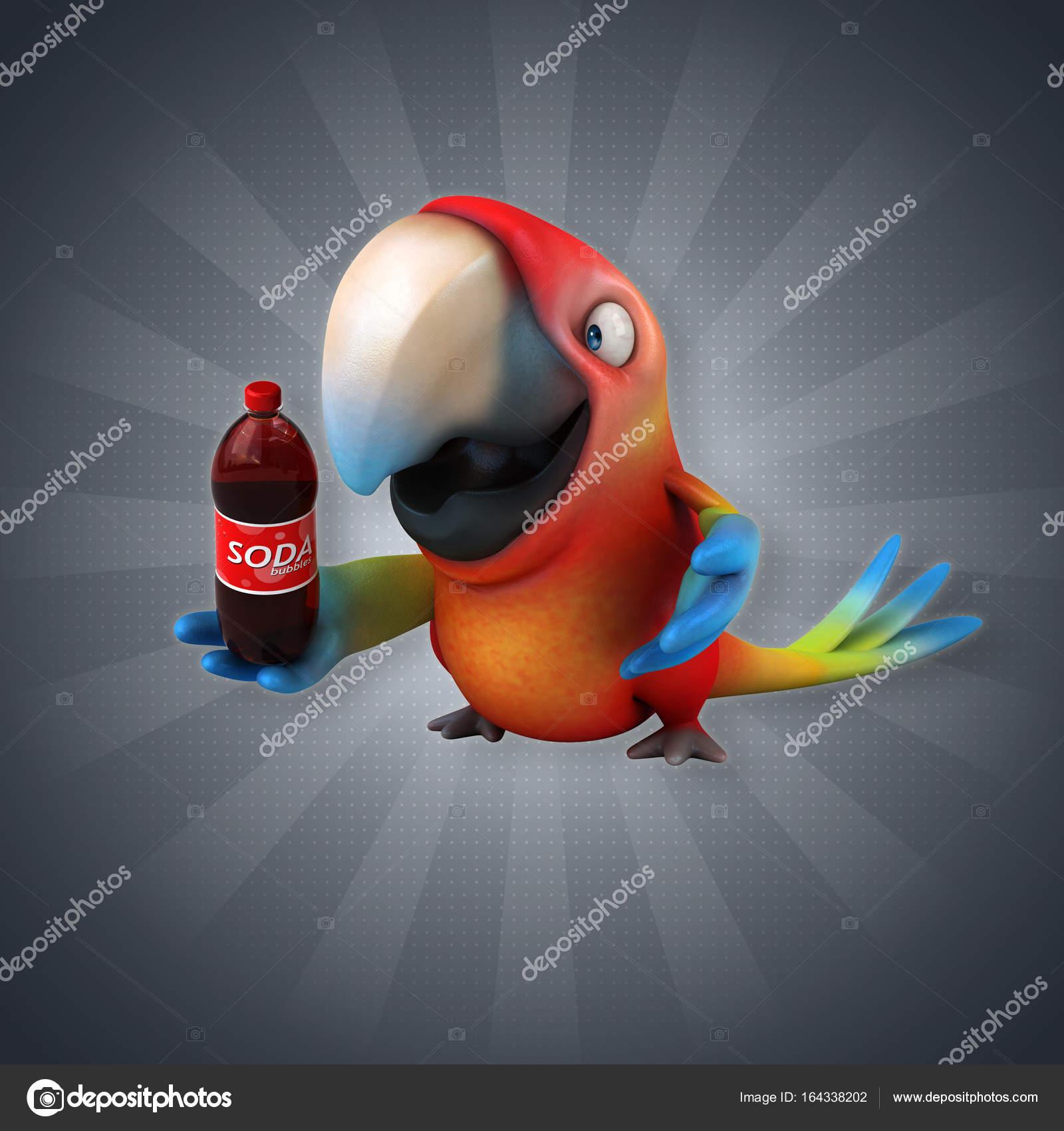d7a2479a3829 cartoon character with soda — Stock Photo © julos  164338202