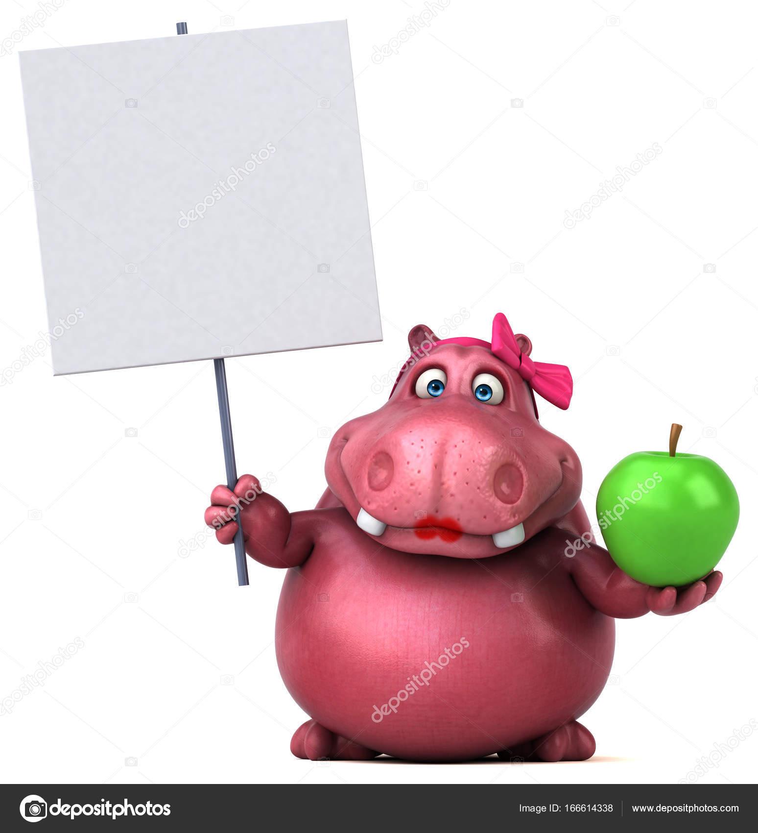 Personaggio dei cartoni animati con la mela u2014 foto stock © julos