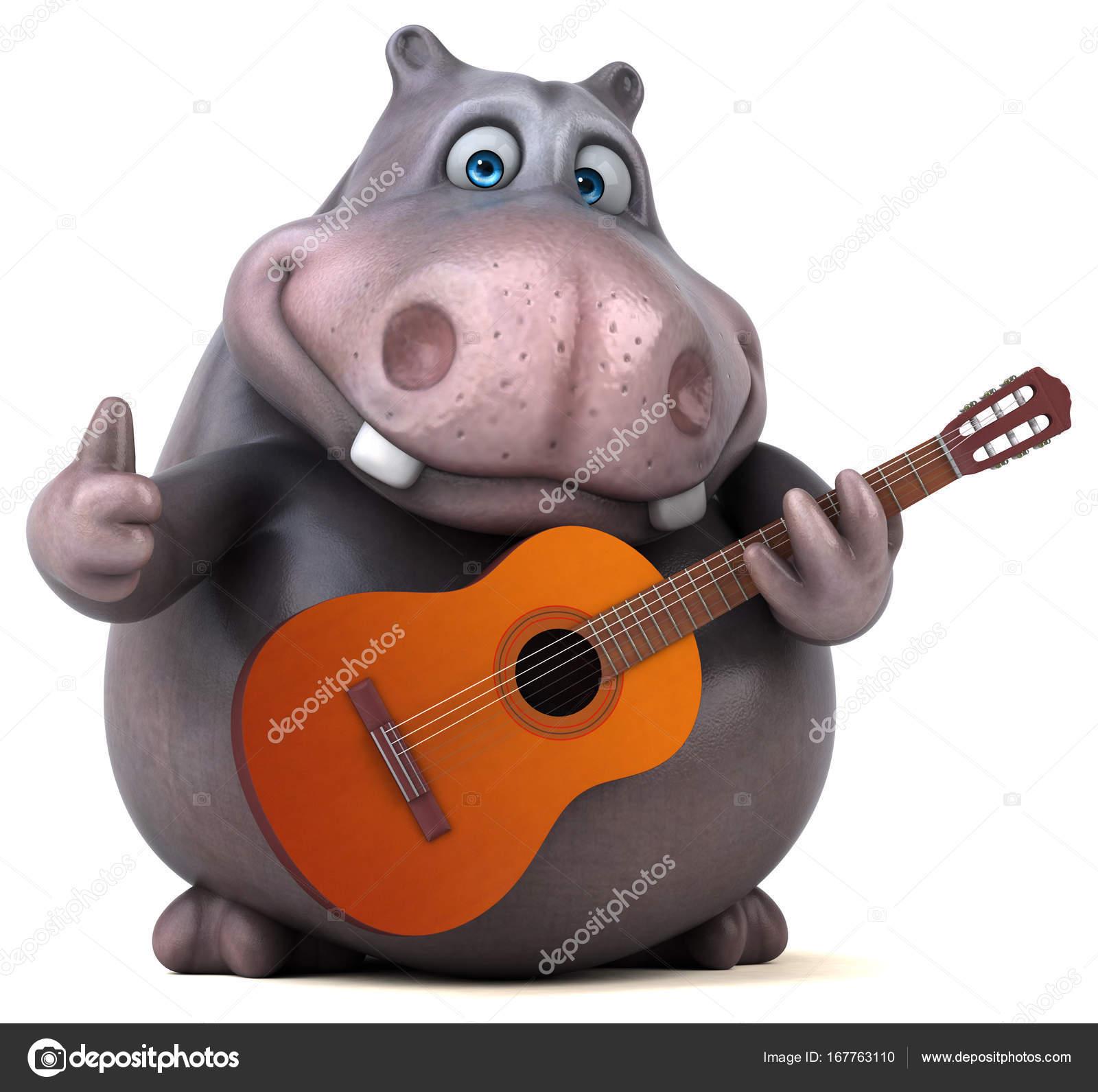 Personaggio dei cartoni animati riproduzione di musica u2014 foto stock